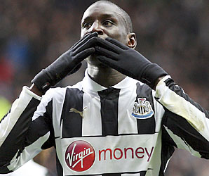 Demba Ba ranks second to Robin van Persie in Premier League goals.