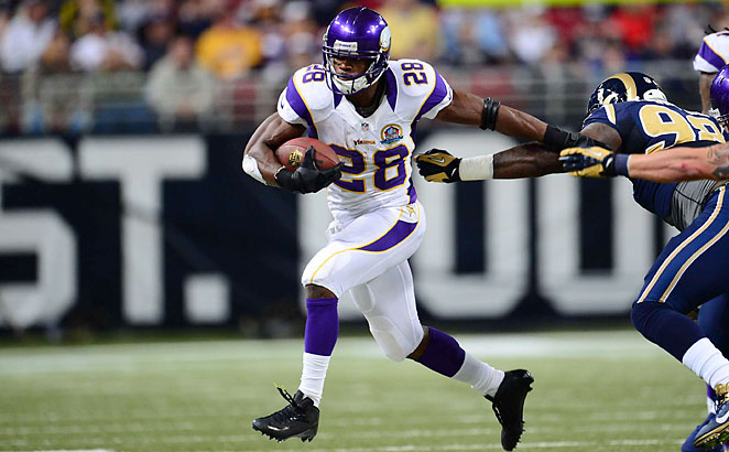 Less than a year after major knee surgery, Adrian Peterson ran for 2,097 yards and 12 touchdowns.