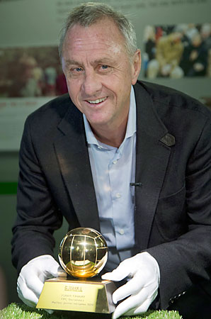 Johan Cruyff won the Ballon d'Or in 1971, 1973 and 1974.