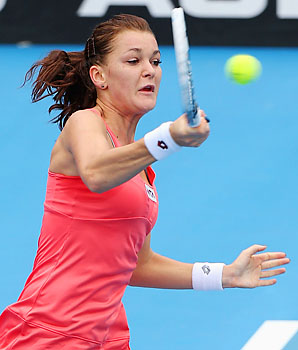 Agnieszka Radwanska will face Jamie Hampton in the semifinals.