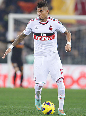 Kevin-Prince Boateng reportedly took off his shirt after repeated abuse and left the field.
