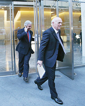 Devils owner Jeff Vanderbeek (left) and president Lou Lamoriello will have a fresh slate when a new CBA deal is struck.