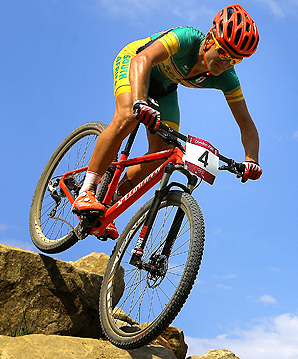 South Africa's Burry Stander competed at the London Olympics in the mountain biking cross country race.