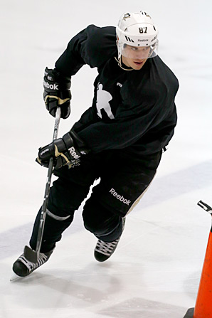 When not taking an active role with the NHLPA during CBA talks, Sidney Crosby has been working to stay in playing shape.