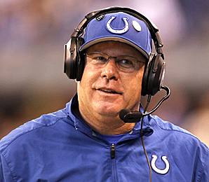 As interim head coach, Bruce Arians guided the Colts to a 9-3 record while Chuck Pagano battled leukemia.