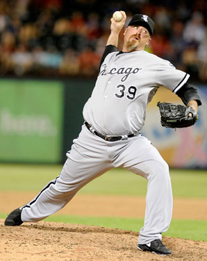 Brett Myers pitched in a relief role for both the Astros and White Sox in 2012.