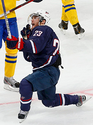 Rocco Grimaldi scored twice against Sweden to help Team USA clinch the title.