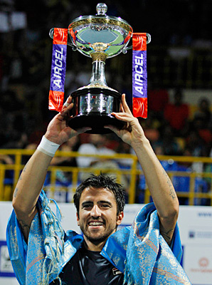 Janko Tipsarevic earned redemption after falling in last year's Chennai final.