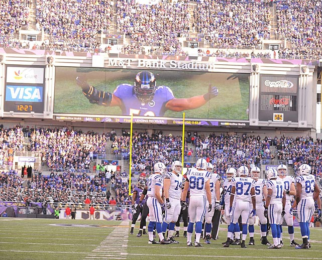 In his first game since Oct. 14 and his last game in Baltimore, the retiring Ray Lewis seemed to be everywhere.