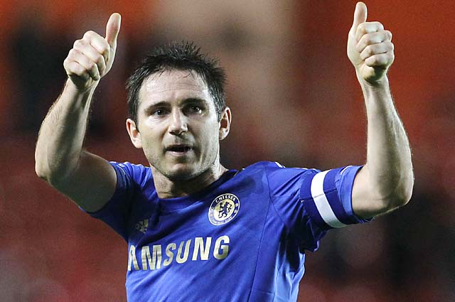 Frank Lampard has made more than 300 appearances with Chelsea since 2001.