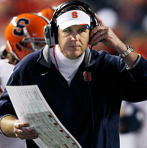 Doug Marrone went 25-25 in four seasons at Syracuse.