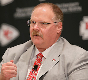 Andy Reid and the Chiefs will have the No. 1 overall pick in this year's draft.
