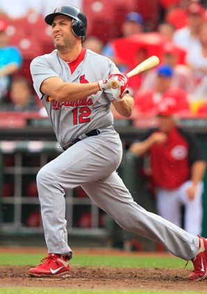 Lance Berkman has a .296 average, 360 homers and 1,200 RBI in 14 seasons.