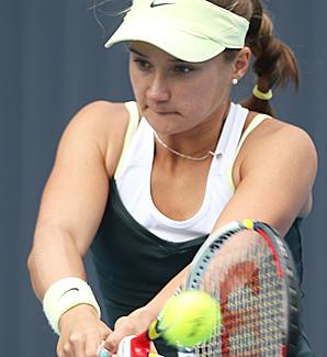 Lauren Davis' win left third-seeded Klara Zakopalova the highest-ranked player left in the tournament.
