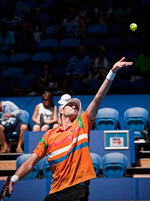 John Isner lasted 71 minutes in the second round against Ryan Harrison.