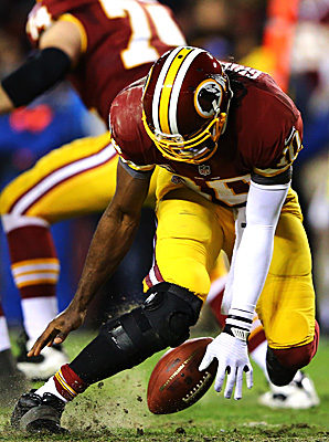 Robert Griffin III re-injured his knee during last Sunday's loss to the Seahawks in the first round of the NFL playoffs.