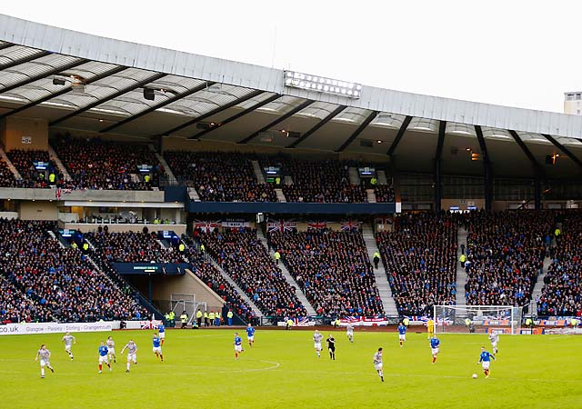 Rangers fell into the fourth tier in Scotland under a pile of debt last year.