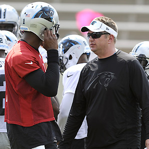 Rob Chudzinski has been praised for his work with Cam Newton over the last two seasons.