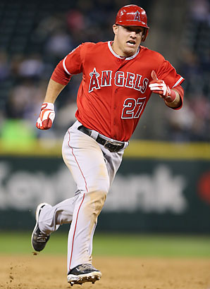 After hitting .326 with 30 home runs and stealing 49 bases as a rookie, Mike Trout is sure to top most fantasy drafts this spring.