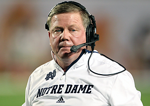 Brian Kelly was the third college coach the Eagles interviewed since firing Andy Reid on Dec. 31.