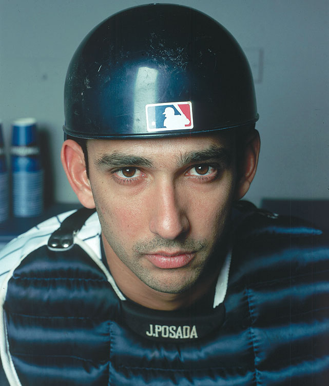 A 17-year Yankee, Jorge Posada was behind the dish for four World Series titles. He was a consistent batter, hitting 20 or more home runs eight times and making five All-Star Games.