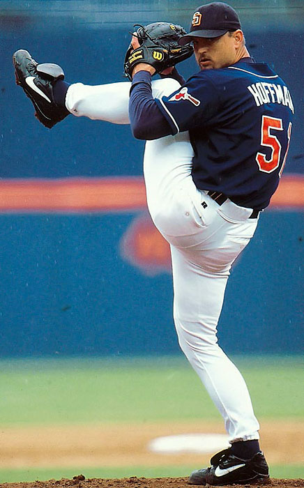 The first player to reach 500 and 600 career saves, Trevor Hoffman dominated the ninth inning throughout his 18-year career. Hoffman was a seven-time All Star and led the National League in saves twice.