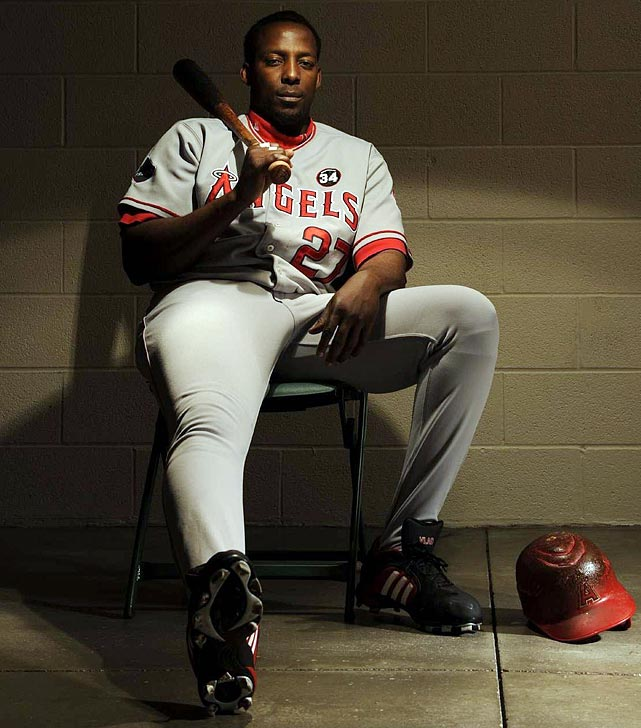 A notorious bad-ball hitter, Vladimir Guerrero could punish pitchers from all parts of the strike zone. The Expos and Angels slugger hit 449 home runs with a career .318 batting average, made eight All-Star Games and won the 2004 MVP.