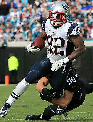 In his first full season as the Patriots' top back, Stevan Ridley had over 1,300 total yards and 12 TDs.