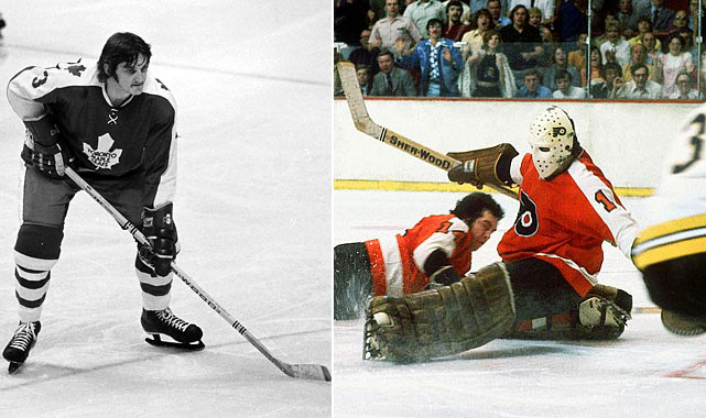 To obtain first-round pick Bob Neely -- who scores 39 goals in 283 career games -- and future considerations from the Flyers in 1973, the Leafs send away a second-round draft choice and some goalie named Bernie Parent, who leads the Flyers to two Stanley Cups and earns Hall of Fame enshrinement.