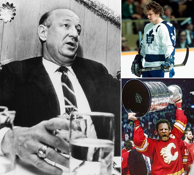 Ballard hires buddy Punch Imlach as GM and Imlach immediately begins feuding with team captain Darryl Sittler, who refuses to waive a no-trade clause as Imlach tries to move him. So the GM starts trading Sittler's friends. The Leafs deal Sittler's linemate, popular right wing Lanny McDonald, and defenseman Joel Quenneville to the Colorado Rockies in return for forwards Pat Hickey and Wilf Paiement. This sets the tone for a decade in which the Leafs compile a record of 301-481-98 in the 80s. McDonald then goes to Calgary, where, after a 66-goal season in 1982-83 in 1989, he records his 500th goal, 500th assist and the Stanley-Cup clinching goal for the Flames in his final game as a pro.
