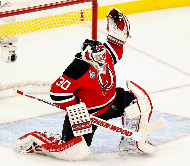 Already the career leader in wins (656) and games played (1,191), the Devils veteran also leads all goalies in career shots-against during the regular season (29,915) even on the defense-first New Jersey teams that have often kept the rubber coming his way to a minimum. Granted, shots and saves stats weren't kept in the days of Terry Sawchuk, Glenn Hall and Jacques Plante, but Brodeur has played 200 more games than each of them, so his numbers are legit. He has stopped 27,312 of those shots.