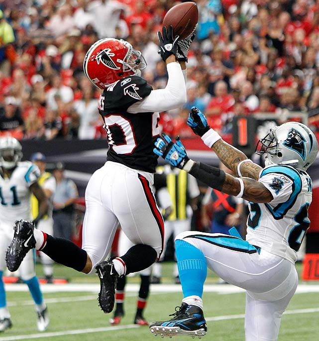An injury to Brent Grimes' Achilles tendon wiped out all but one game from the Atlanta Falcons cornerback's 2012 season. The injury will certainly be a question mark for any team considering offering Grimes a long-term contract, but 12 interceptions over his past 39 games makes for a nice rebuttal.