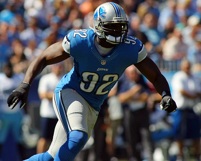 Lions defensive end Cliff Avril recorded a team-leading 9.5 sacks this season, as well as two forced fumbles and four stuffs.