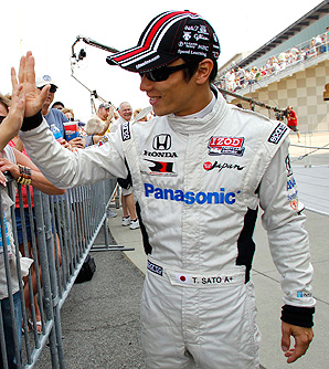 Takuma Sato drove for Rahal Letterman Lanigan Racing in the 2012 IndyCar season.