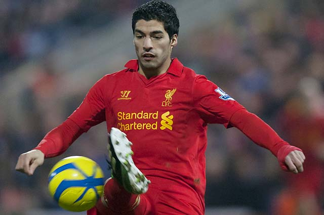 Luis Suarez has 15 goals in the Premier League this season, second only to Robin van Persie.