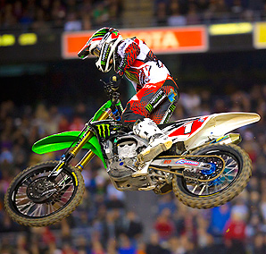 Ryan Villopoto locked in the 2012 supercross championship with two races left to go in the season.