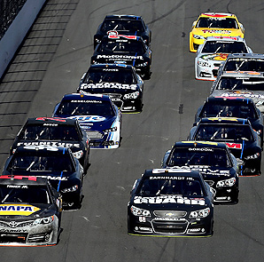 Testing at Daytona essentially ended when Dale Earnhardt Jr. caused a 12-car crash.