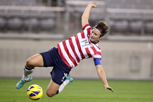 Abby Wambach was among 23 Americans assigned to the National Women's Soccer League by the U.S. Soccer Federation.