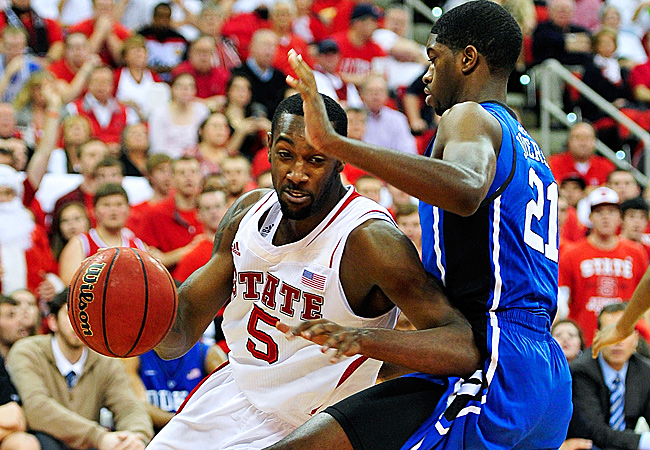 C.J. Leslie led N.C. State to its first win over a top-ranked team since beating Duke in 2004.