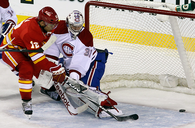 Jarome Iginla had 67 points last season for the Flames, who open in a home-and-home with San Jose.