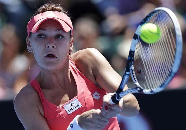No. 4 Agnieszka Radwanska closed a 7-5, 6-0 win over Bojana Bobusic by winning the last nine games. Radwanska hasn't lost a set in 2013.