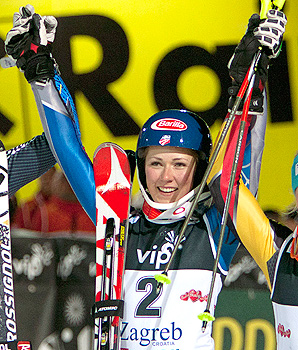 Mikaela Shiffrin is already receiving comparisons to skiing great Annemarie Moser-Proell.