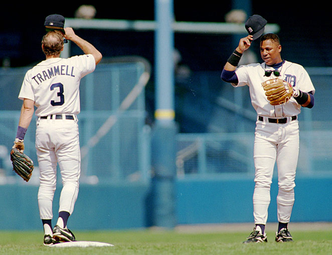 Alan Trammell and Lou Whitaker were double play partners in Detroit for parts of 19 seasons.