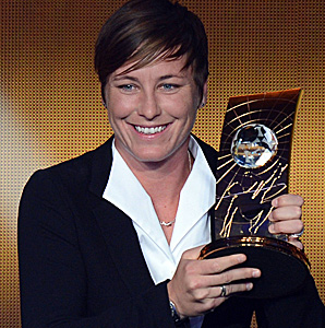 Abby Wambach, the FIFA Women's Player of the Year, will play for the Western New York Flash.