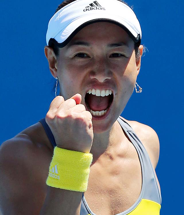 Kimiko Date-Krumm, 42, won her first Australian Open match in 17 years, ousting No. 12 Nadia Petrova 6-2, 6-0. She's the oldest match winner in tournament history.
