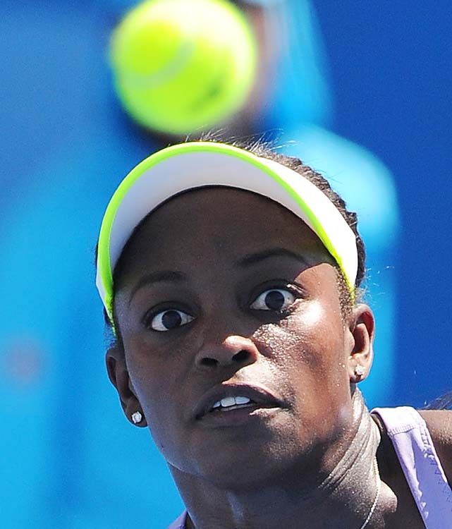 No. 29 Sloane Stephens was a 6-1, 6-1 winner over Simona Halep. Kristina Mladenovic awaits in the second round.