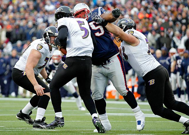 While Joe Flacco's encore is probably the most anticipated event of the AFC Championship, the Ravens will need to establish Ray Rice to free up the surging quarterback. This means the offensive line will need to keep the mammoth Vince Wilfork out of the backfield and away from Flacco.