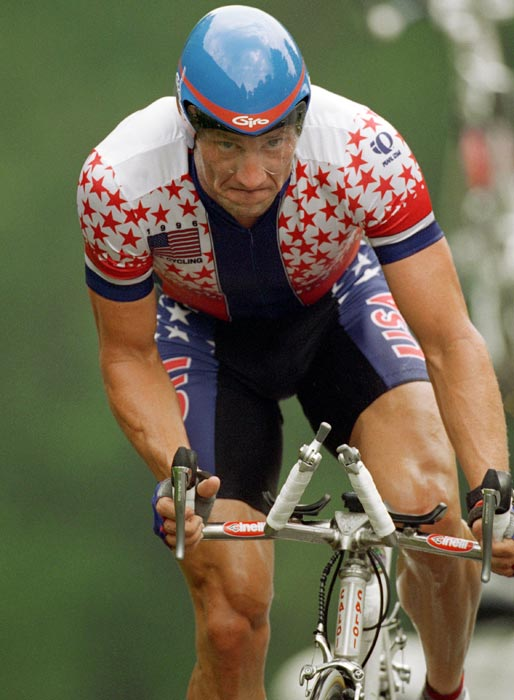 In 1996 Armstrong competed in the Olympics, where he finished sixth in the time trial and 12th in the road race. After the Games, he signed with the French team Cofidis, along with Frankie Andreu and Laurent Madouas.