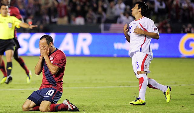 Landon Donovan and the U.S. lost to Costa Rica in 1-0 in September 2011.