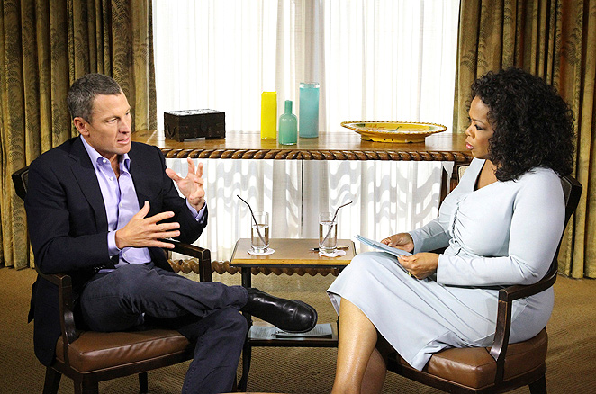 "Oprah Winfrey said that Lance Armstrong appeared to be ""thoughtful"" and ""serious"" during the two and a half hour interview."